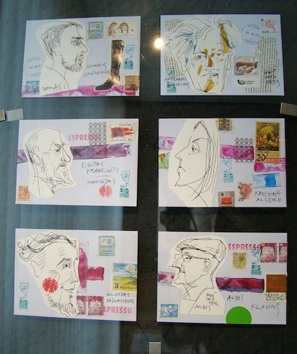 Cartoon: Mail art with sketch (medium) by Kestutis tagged mail,art,kestutis,lithuania,sketch