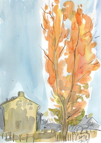 Cartoon: Sketch art. Autumn plein airs 1 (medium) by Kestutis tagged sketch,art,kunst,autumn,plein,airs,kestutis,lithuania