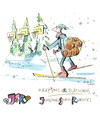 Cartoon: Basketball and Biathlon (small) by Kestutis tagged sport basketball winter kestutis lithuania