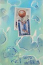 Cartoon: Basketball. DADA Sports (small) by Kestutis tagged bnasketball sports dada postcard mail art kestutis lithuania