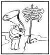 Cartoon: Crossroad (small) by Kestutis tagged crossroad,music,kestutis,siaulytis,lithuania