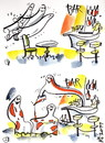 Cartoon: GUESTS GHOSTS (small) by Kestutis tagged ghosts,happening,bar,party,night,raut,ball,feast,wine
