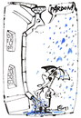 Cartoon: HAPPENING IN THE RAIN (small) by Kestutis tagged umbrella regenschirm rain happening pardon
