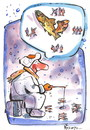 Cartoon: HOPE - CAUSE - TIME (small) by Kestutis tagged ice,fishing,winter,zeit,hoffnung,kestutis,bubble,hope,cause,time,dream,snow,fish,angler,ursache