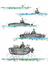 Cartoon: Hybrid submarine (small) by Kestutis tagged hybrid,submarine,kestutis,lithuania