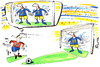 Cartoon: MAGIC OF NUMBER (small) by Kestutis tagged magic,number,football,fußball,sport,numerology,2012,fussball,euro,soccer,fans,goalkeeper