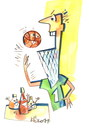 Cartoon: Pizza and Basketball (small) by Kestutis tagged pizzapitch ball sports fun championships basketball pizza kestutis lithuania
