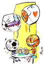 Cartoon: REMINISCENCES (small) by Kestutis tagged reminiscences,football,basetball,fußball,soccer,sport,beer