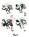 Cartoon: ROOK (small) by Kestutis tagged birds nature animals philosophy vogel kestutis lithuania rook green red signs