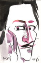 Cartoon: Salvador Dali (small) by Kestutis tagged liner,postcard,art,kunst,kestutis,lithuania