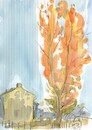 Cartoon: Sketch art. Autumn plein airs 1 (small) by Kestutis tagged sketch,art,kunst,autumn,plein,airs,kestutis,lithuania