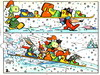 Cartoon: Skiing (small) by Kestutis tagged hedgehog,tortoise,kestutis,siaulytis,lithuania,adventure,nature,animal,comic,strip,skiing,winter,snow,schnee