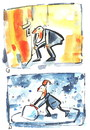 Cartoon: SNOW SCULPTOR (small) by Kestutis tagged snow,sculptor,adventure,happening,winter,kestutis