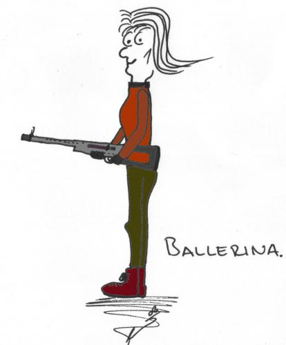 Cartoon: Ballerina (medium) by al_sub tagged ballerina,wordspiel