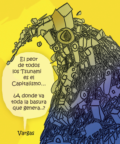 Cartoon: TSUNAMI CAPITALISTA (medium) by OTORONGO tagged politica