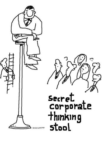 Cartoon: corporations and stuff (medium) by ouzounian tagged corporations,business,management,ideas