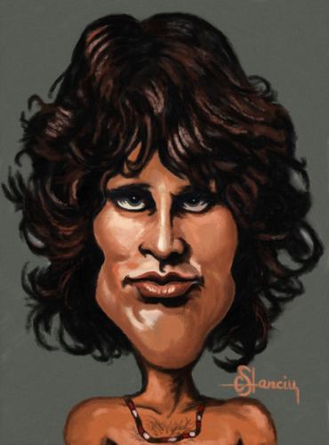 Cartoon: Jim Morrison (medium) by cristianst tagged the,doors