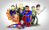 Cartoon: Superheroes (small) by StajevskiArt tagged human,torch,punisher,spiderman,superman,green,lantern,wolverine