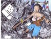 Cartoon: tragedy in Haiti (small) by odinelpierrejunior tagged earthquake,image,ink,paintings,drawings,arts,designs