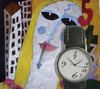 Cartoon: face clck (small) by leo caraffa tagged clocks