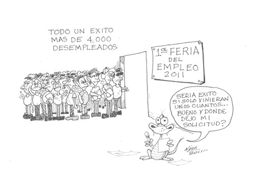 Cartoon: FERIA DE EMPLEO (medium) by Nico Avalos tagged desempleo,feria,tampico,empleos