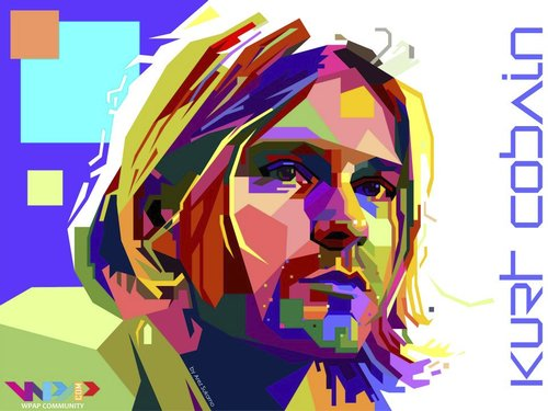 Cartoon: Kurt Donald Cobain WPAP (medium) by areztoon tagged nirvana,kurt,cobain,grunge