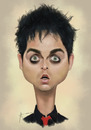 Cartoon: Billie Joe Armstrong (small) by areztoon tagged caricature,billie,joe,armstrong,lead,vocalist,green,day