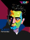 Cartoon: Xavi on WPAP (small) by areztoon tagged xavi wpap barcelona fcb barca