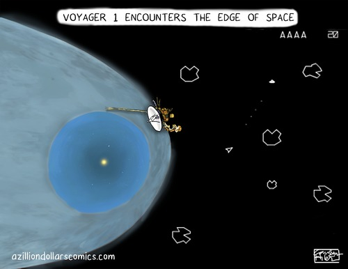 Cartoon: The Breakthrough (medium) by a zillion dollars comics tagged astronomy,space,technology,science,video,games