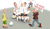 Cartoon: Freistoss (small) by KryCha tagged footbal mauer wall mauerfall wm