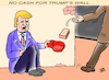Cartoon: TRUMP AND HIS WALL... (small) by Vejo tagged trump,wall,budget,cash,money