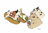 Cartoon: HOTDOGS (small) by motoko tagged hund dog hotdogs junkfood