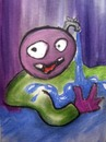 Cartoon: Character design earth (small) by pax tagged nature,peace,water,weeds,war