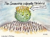 Cartoon: Corona subjugates world (small) by Alan tagged corona,virus,subjugate,world,crown