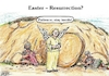 Cartoon: Easter_Resurrection? (small) by Alan tagged easter,resurrection,contact,restrictions,jesus,tomb,corona,covid19,merkel,angel