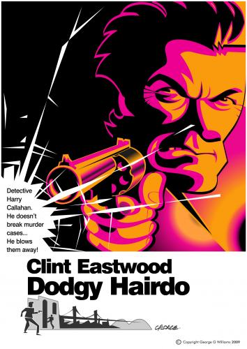 Cartoon: Dirty Harry (medium) by spot_on_george tagged dirty,harry,clint,eastwood,caricature