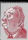 Cartoon: Alfred Hitchcock (small) by McDermott tagged hitchcock,movies,actors,directors,mcdermott,caricatures,sketchbook