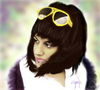Cartoon: cansu celikgun (small) by ressamgitarist tagged drawing,portrait,photoshop