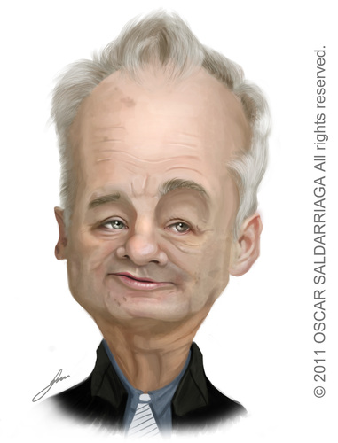 Cartoon: Bill Murray (medium) by Oscar Saldarriaga tagged bill,murray,cartoon,caricatura,oscar,saldarriaga,ilustrador,illustrator,ilustracion,illustration,best,colombian