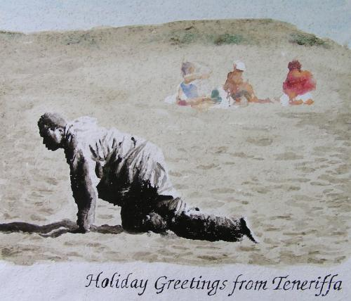 Cartoon: holiday greetings from teneriffa (medium) by oepper tagged holiday,greetings,teneriffa