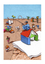 Cartoon: Man soll alle Tage.. (small) by Mehmet Karaman tagged papier literatur buch leser