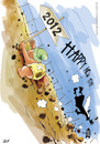 Cartoon: Happy New Year 2012 (small) by Jesse Ribeiro tagged cartoon,comics,2012