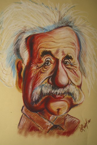 Cartoon: Albert Einstein (medium) by Zamfir Somcutean tagged science
