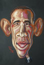 Cartoon: Barack Obama (small) by Zamfir Somcutean tagged democracy