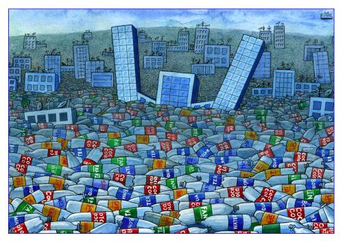 Cartoon: Garbage (medium) by Makhmud Eshonkulov tagged ecology,garbage,trash,civilization