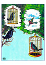Cartoon: Cages (small) by Makhmud Eshonkulov tagged cages birds love