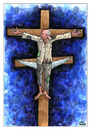 Cartoon: Crucifix (small) by Makhmud Eshonkulov tagged crucifix