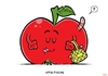 Cartoon: Apfeltasche (small) by Christoon tagged apfel,tasche,obst