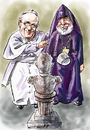 Cartoon: Francis-Karekin (small) by Bob Row tagged francias,karekin,turkey,armenian,genocide
