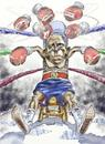 Cartoon: Obama the Hope is gone (small) by Bob Row tagged obama hope economy tea party wall street jobs iran